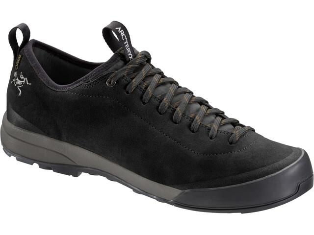 Arc'teryx Acrux SL Leather GTX Approach Shoes Herr black/shark